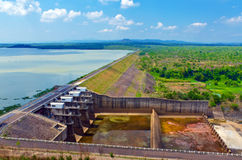 Hydropower reservoirs Royalty Free Stock Photo