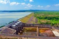 Hydropower reservoirs. In Daklak, Viet Nam royalty free stock photo
