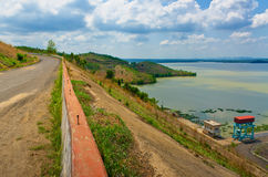 Hydropower reservoirs Royalty Free Stock Images