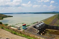 Hydropower reservoirs Royalty Free Stock Photography