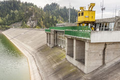 Hydropower station on Czorsztynski lake - Czorszty Royalty Free Stock Photography