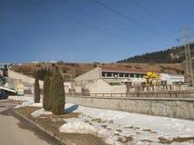 Hydropower station on Czorsztynski lake. Czorsztyn Royalty Free Stock Photography