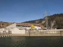Hydropower station on Czorsztynski lake. Czorsztyn Royalty Free Stock Image
