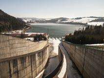 Hydropower station on Czorsztynski lake. Czorsztyn Stock Photos