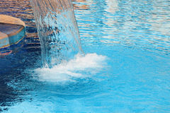 Hydrotherapy waterfall in spa royalty free stock photos
