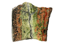 Hydrothermal epidote vein in granite Stock Image