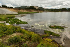 Hydrothermal field in the Uzon Caldera. Kronotsky Nature Reserve Royalty Free Stock Photos