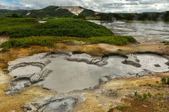 Hydrothermal field in the Uzon Caldera. Kronotsky Nature Reserve Royalty Free Stock Image