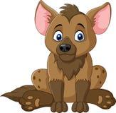 Hyena cartoon sitting isolated on white background Stock Images