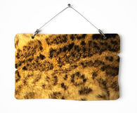 Hyena fur notice board Stock Photography