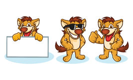 Hyena Mascot Vector happy Royalty Free Stock Images