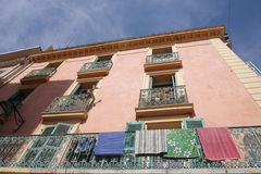 Hyeres balconies Royalty Free Stock Images