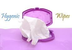 Hygenic wipes Stock Photos