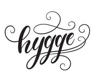 Hygge手字法 也corel凹道例证向量 库存照片