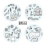 Hygge概念 传染媒介被隔绝的标志 向量例证