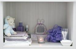 Hygge bathtime comfort royalty free stock image