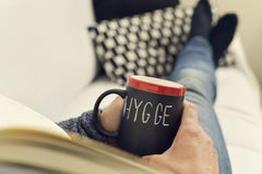 Hygge, danish word for comfort or enjoy royalty free stock images