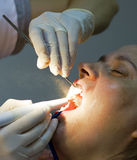 Hygiène de bouche au dentiste Photo stock