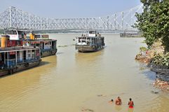 Hygiène indienne d'après-midi dans Kolkata Images stock