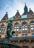 Hygieia Brunnen, Hamburg. Statue-fountain inside of the Rathaus Royalty Free Stock Images