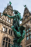 Hygieia Brunnen, Hamburg. Statue-fountain inside of the Rathaus Stock Photography