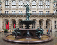 Hygieia Fountain in Hamburg Royalty Free Stock Image