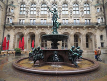 Hygieia Fountain in Hamburg Royalty Free Stock Photography