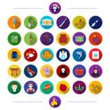 Hygien, medicin, djur och annan rengöringsduksymbol i plan stil ferie underhållning, turism, symboler i uppsättningsamling royaltyfri illustrationer