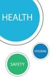 Hygien och säkerhet skyddar hälsa stock illustrationer