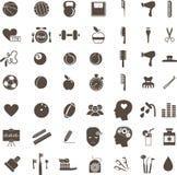 Hygien och sunda livsstilsymboler royaltyfri illustrationer