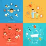 Hygiendesignbegrepp vektor illustrationer