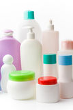 Hygiene. Arrangement of plastic bottles different shape and colour Royalty Free Stock Photography