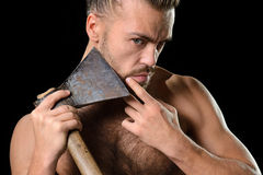 Hygiene axe man Royalty Free Stock Images