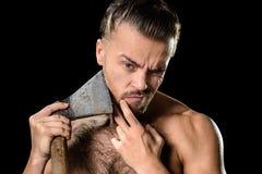 Hygiene axe man Stock Photos