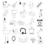 Hygiene And Bathroom Icons Set Royalty Free Stock Photography