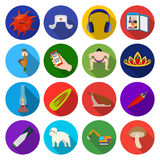 Hygiene, business services and other web icon in flat style. forest, recreation, tourism icons in set collection. Royalty Free Stock Photography