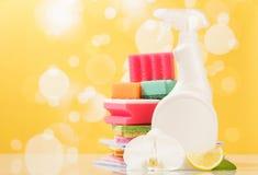 Hygiene cleanser in bottle Stock Photos