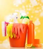 Hygiene cleanser in bottles Stock Images