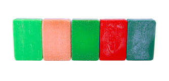 Hygiene colored soap Royalty Free Stock Image