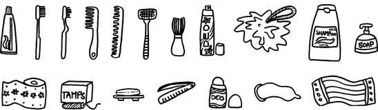 Hygiene equipment. On white background. vector image stock illustration