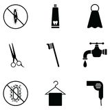 Hygiene icon set. The hygiene of icon set stock illustration
