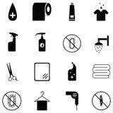 Hygiene icon set. The hygiene of icon set royalty free illustration