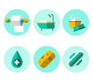Hygiene Icons Flat Set Stock Image