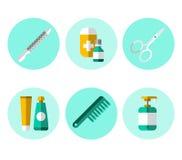 Hygiene Icons Flat Set Royalty Free Stock Images