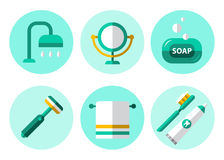 Hygiene Icons Flat Set Stock Image