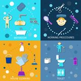 Hygiene Icons Flat Stock Photography