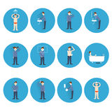 Hygiene icons flat Royalty Free Stock Photos