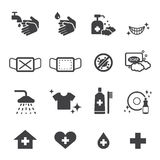 Hygiene icons set Royalty Free Stock Photos