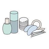 Hygiene icons. Vector Picture. lash extensions materials Stock Photo