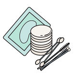 Hygiene icons. Vector Picture. lash extensions materials Stock Image